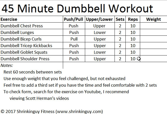 You Ve Done A Simple Dumbbell Routine If Made It Through All Of The Exercises That Is Total 120 Repeions Didn T Make